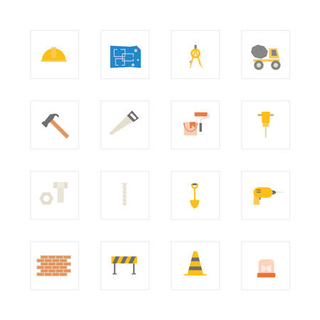 Engineering and construction icon set. vector illustration design Vector