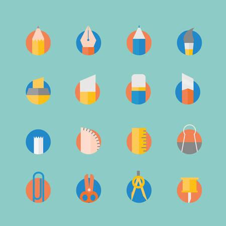 stylus: Stationery icons set.vector illustration design
