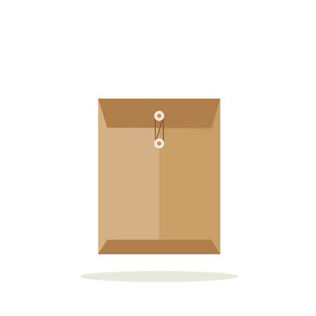old envelope: Envelope illustration, flat vector design Illustration