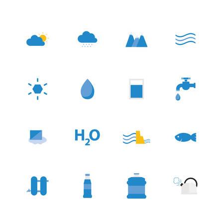 Water icon set. Vector illustration design.