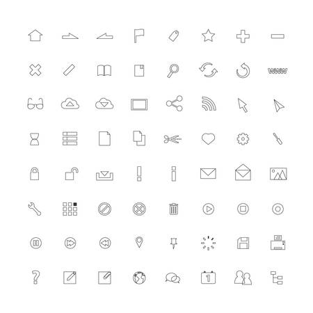 ios: Thin line icons for Web and Mobile.vector design.