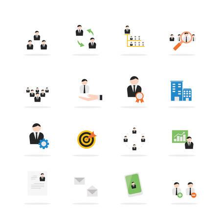 organisation: Business management icon set. Vector design Illustration