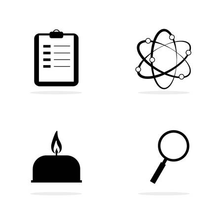 Science lab equipment and symbol icon,vector design illustration Vector