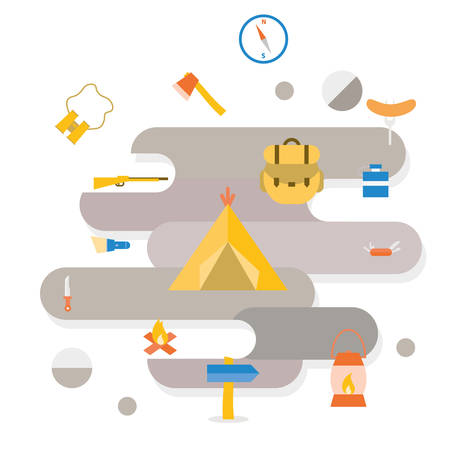 pocket knife: Adventure Camping icon vector design object