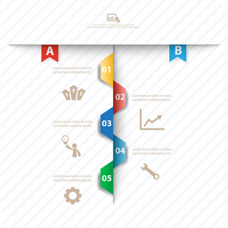 Colorful vector design for workflow layout, diagram, number options, web design, presentation template, infographics. Vector