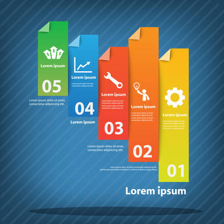 leaflets: Colorful vector design for workflow layout, diagram, number options, web design, presentation template, infographics.