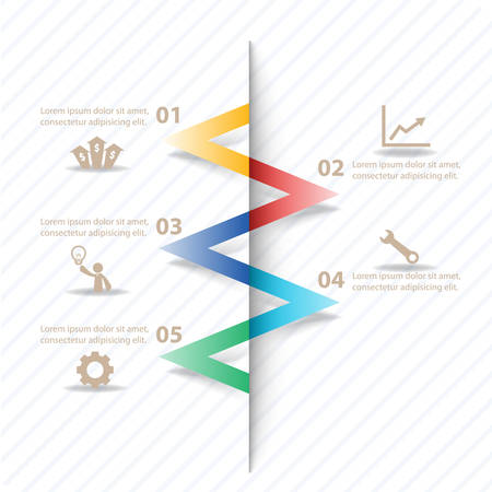 financial success: Colorful vector design for workflow layout, diagram, number options, web design, presentation template, infographics.