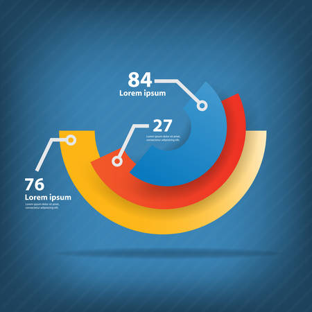 Colorful vector design for workflow layout, diagram, number options, web design, infographics. Vector