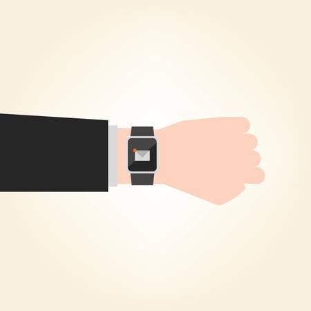 unread: Business smart watch vector illustration design. Illustration