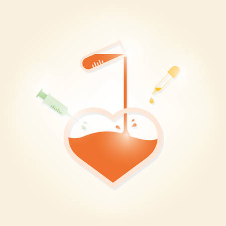 healt: Heart love experiment.vector illustration design Illustration