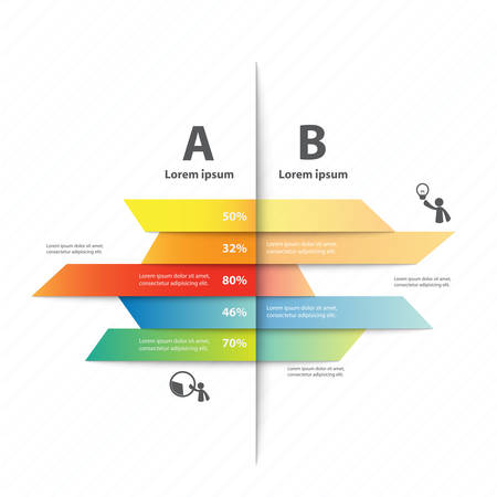 ワークフローのレイアウト、図、番号のオプション、web デザイン、プレゼンテーション テンプレート、インフォ グラフィックのカラフルなベクタ