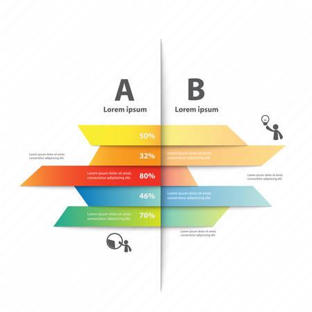 Kleurrijke vector ontwerp voor workflow lay-out, diagram, het aantal opties, webdesign, presentatie template, infographics. Stock Illustratie