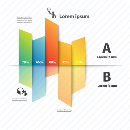 Colorful vector design for workflow layout, diagram, number options, web design, presentation template, infographics. Imagens - 33442033