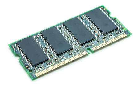 ddr3: Computer memory module. Isolated on white background.