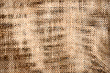 natural rope: Burlap or sacking detail background texture. Stock Photo