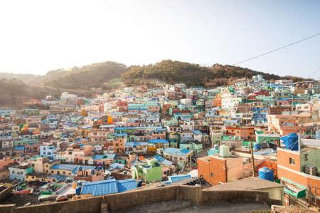 甘川文化村 Busan, 南朝鮮 写真素材 - 37259255