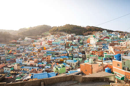 Gamcheon Culture Village, Busan, South Korea. Reklamní fotografie - 37259255