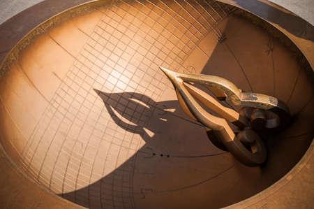 hemispheric: Sundial made in Joseon Dynasty, Seoul, South Korea Stock Photo