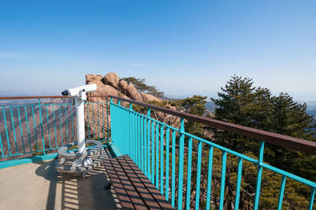 Observation point with telescope at Seoraksan National Park photo