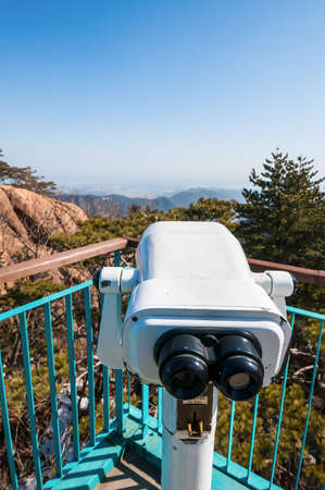 observation: Observation point with telescope at Seoraksan National Park