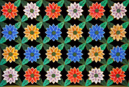 Carving lotus flower on Korea tradition windows.