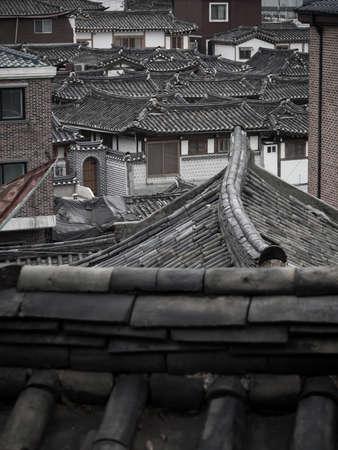 korean style house: The roof of Bukchon Hanok Village