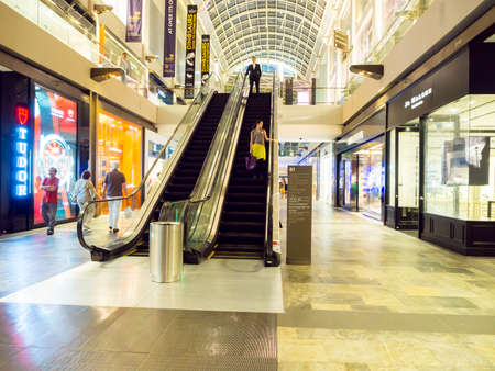 Marina Bay, Singapore - March 09, 2014 : Marina Bay Sands Shopping mall. It is billed as the world