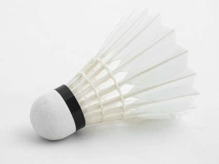 badminton: Badminton Shuttlecock isolated on white