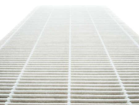 air filter: Air purifier filter replacement. Stock Photo