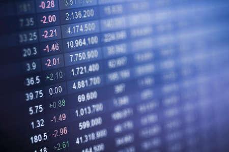 Börsennummer auf dem Bildschirm Standard-Bild - 40806962