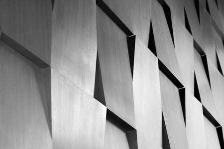 abstrakt: Trä vägg geometri dekoration bakgrund Stockfoto