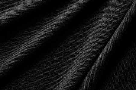 Black Clothes fabric texture background.