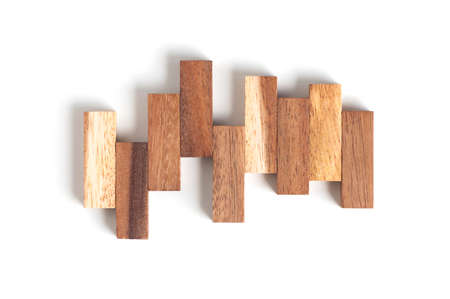 wood block: Abstract wood block toy.