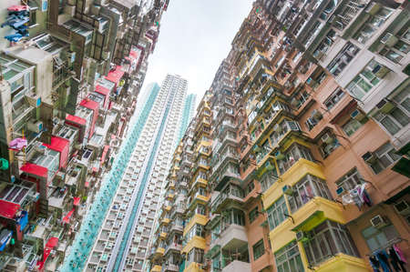 Dense residential building in Hong Kong Banque d'images