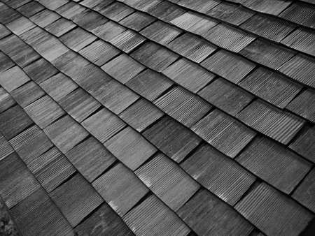 roofs: Old wooden shingles roof.
