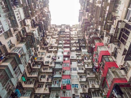 density: Dense residential building in Hong Kong Stock Photo