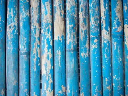 wood wall texture: Blue grunge painted wood background with shallow depth focus.