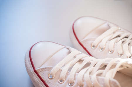white canvas: White canvas shoes old vintage style