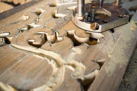carving tool: Wood carving carft work with saw tool.