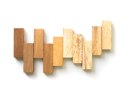 arranging: Arranging wood block stacking as step stair. Business concept for growth success process.