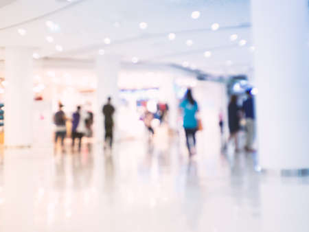 lit collection: Shopping mall blurred background Stock Photo