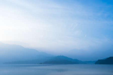 Beautiful morning at Sun Moon Lake,Taiwan 写真素材