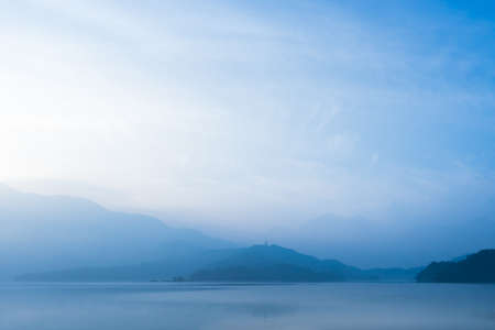 Beautiful morning at Sun Moon Lake,Taiwan Stock Photo