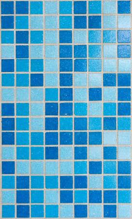bathroom tiles: Blue mosaic tiles for bathroom background. Stock Photo