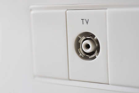 tv wall: TV wall outlet for coaxial antenna cable