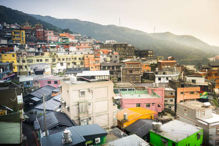 Landscape of residential building at Jiufen town. Stock Photo