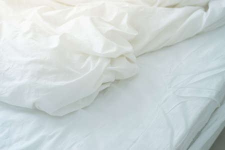 bed sheet: Bed sheet with wrinkle.