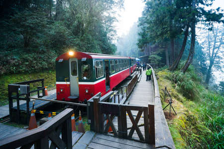 Alishan forest train railway is famous for tourist attraction. Editorial