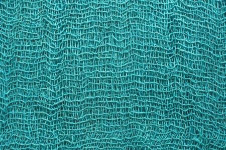 cloth fiber: Turquoise fiber cloth texture background. Stock Photo
