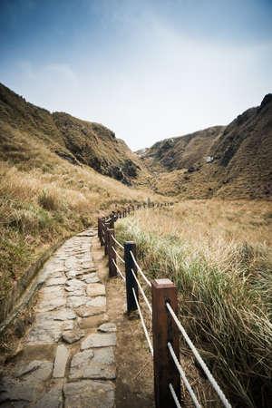 xing: Qixing Mountain Peak Trail at Yangmingshan National Park.